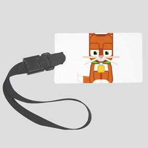 Cute Kitty Cat Ginger - Super cu Large Luggage Tag
