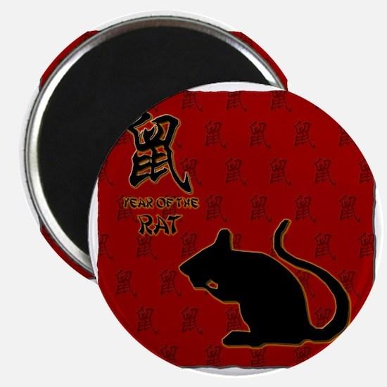 rat_10x10_bw_red Magnet