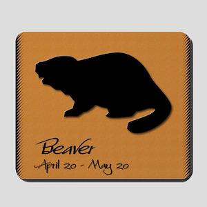 beaver_10x10_colour Mousepad