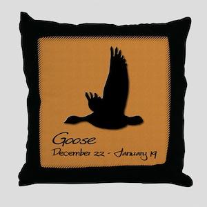 goose_10x10_colour Throw Pillow