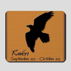 raven_10x10_colour Mousepad