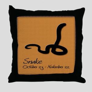 snake_10x10_colour Throw Pillow