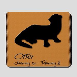 otter_10x10_colour Mousepad