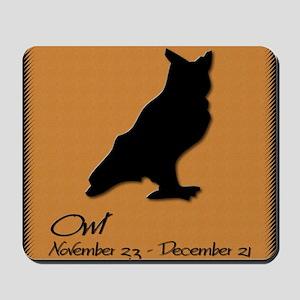 owl_10x10_colour Mousepad