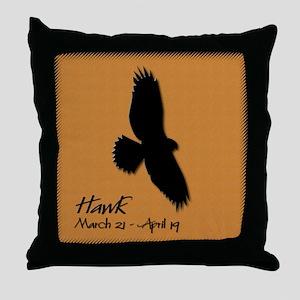 hawk_10x10_colour Throw Pillow