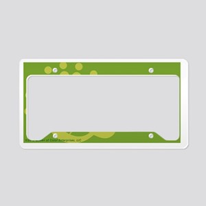 God Minute Green License Plate Holder