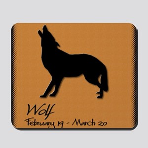 wolf_10x10_colour Mousepad