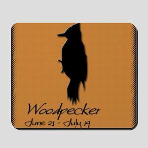 woodpecker_10x10_colour Mousepad