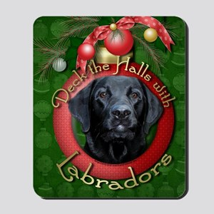 DeckHalls_Labradors_Black_Gage Mousepad