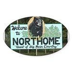 Welcome to Northome Oval Sticker