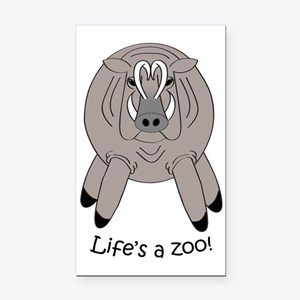 Babirusalight Rectangle Car Magnet