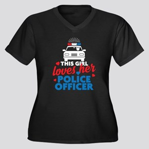 This Girl Loves Her Police Officer Plus Size T-Shi