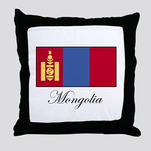 Mongolia - Flag Throw Pillow