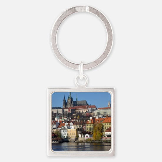 prague Square Keychain