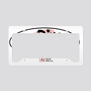2-Dive-Diva-Floral License Plate Holder