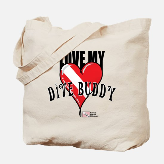 2-Love-My-Dive-Buddy Tote Bag