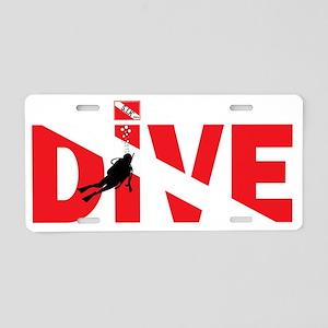 DIVE-on-Dark Aluminum License Plate