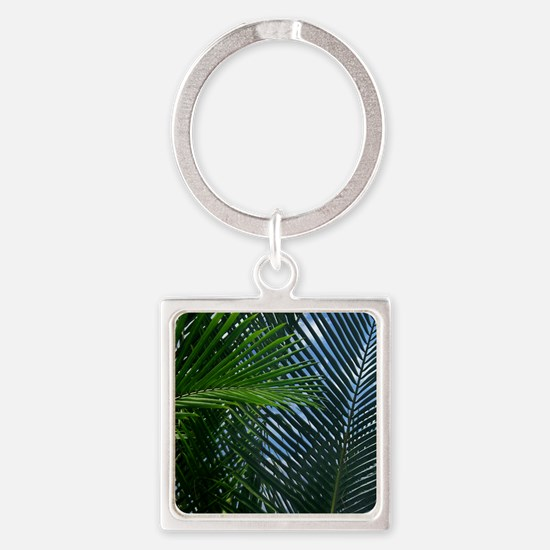 palm fronds Square Keychain