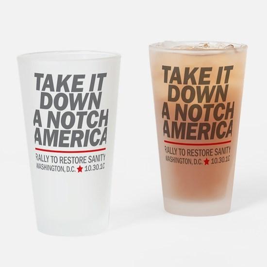 Take it down a notch Drinking Glass