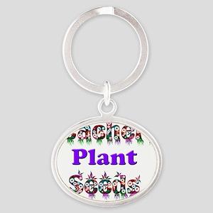 Teachers plant seeds copy Oval Keychain