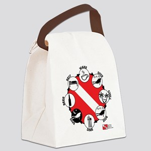 3-Circle-of-Scuba Canvas Lunch Bag