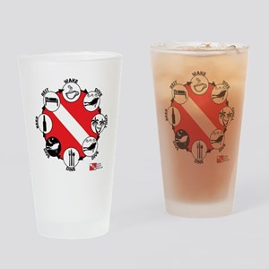 3-Circle-of-Scuba Drinking Glass