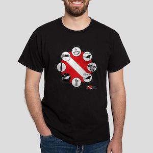 3-Circle-of-Scuba Dark T-Shirt