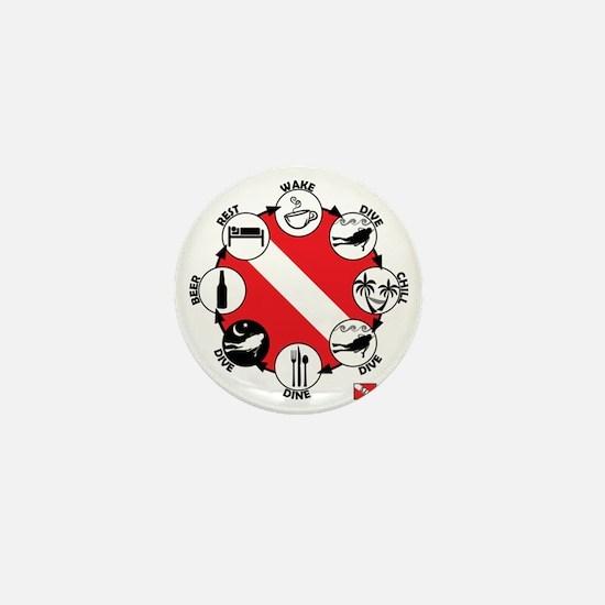 3-Circle-of-Scuba Mini Button
