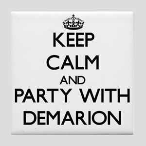 Keep Calm and Party with Demarion Tile Coaster