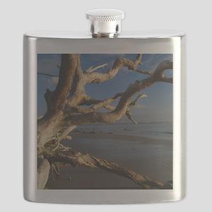 driftwood beach2 Flask