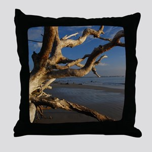 driftwood beach2 Throw Pillow