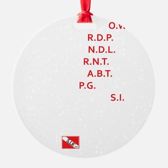 3-Acronyms Ornament