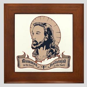 jesus-mullet-T Framed Tile