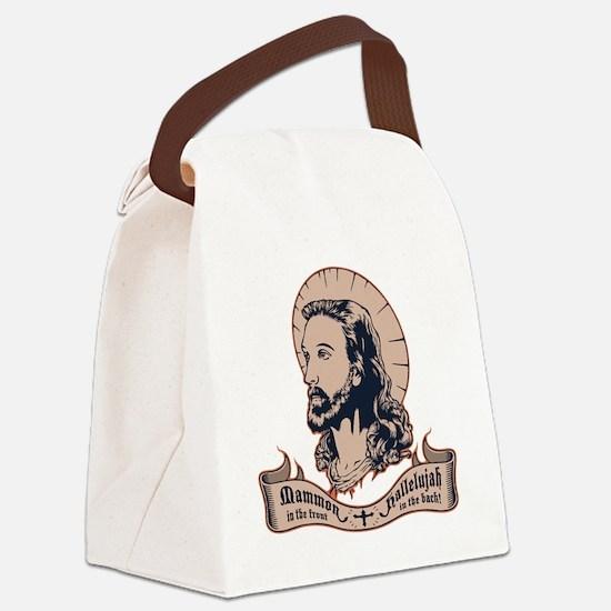 jesus-mullet-T Canvas Lunch Bag