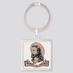 jesus-mullet-T Square Keychain