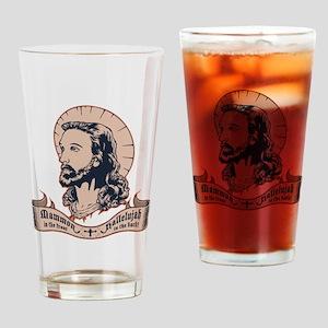 jesus-mullet-T Drinking Glass