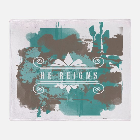 Christian He Reigns T-Shirt w Throw Blanket