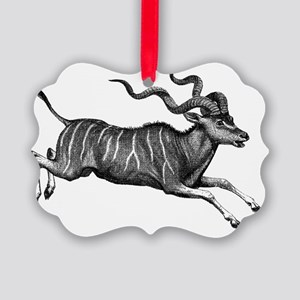 Greater Kudu Picture Ornament