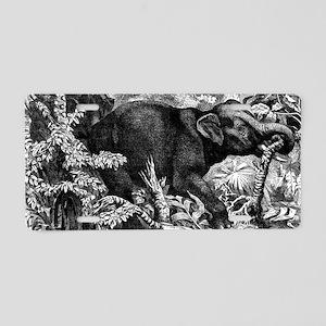 Elephant Rampage Aluminum License Plate