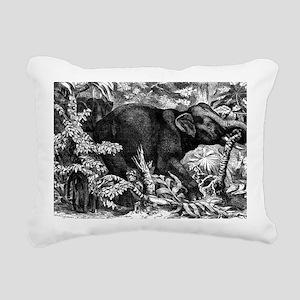 Elephant Rampage Rectangular Canvas Pillow