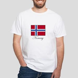 Norway - Norwegian Flag White T-Shirt