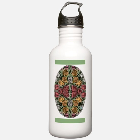 5x8journalpastelrosess Water Bottle