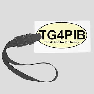 tg4pib logo Large Luggage Tag