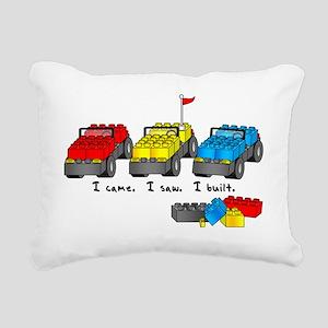veni vidi lego sm Rectangular Canvas Pillow