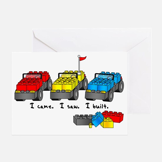 veni vidi lego sm Greeting Card