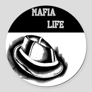 mafia life back of T Round Car Magnet