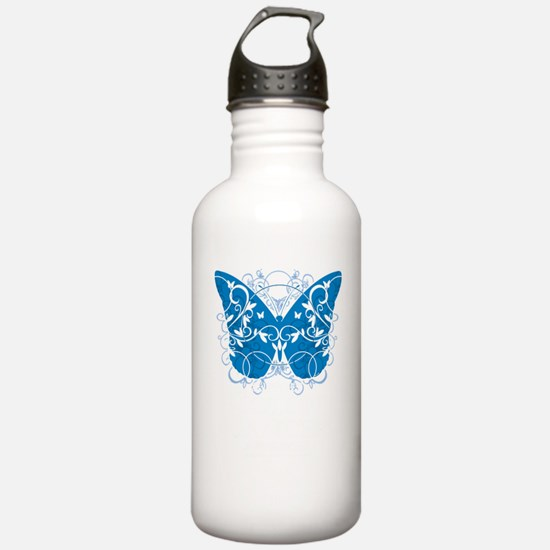 Colon-Cancer-Butterfly Water Bottle