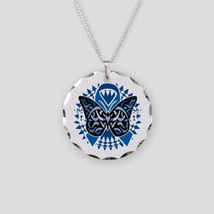 Colon-Cancer-Butterfly-Triba Necklace Circle Charm