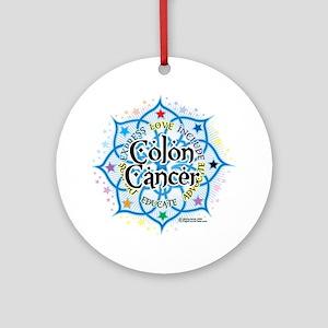 Colon-Cancer-Lotus Round Ornament