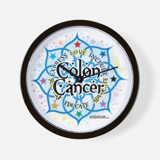 Colon-Cancer-Lotus Wall Clock